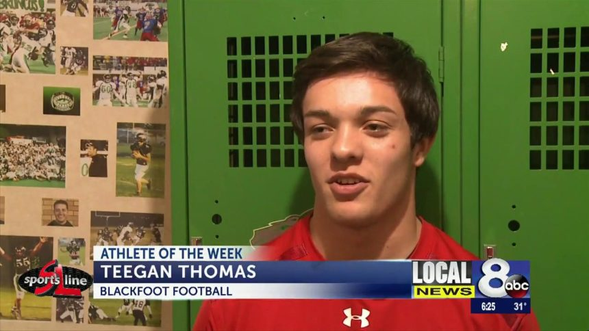 Athlete of the week Teegan Thomas Blackfoot football