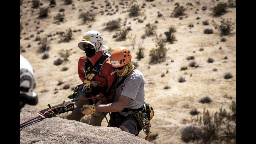 Firefighters Richard Benson and Mat Hardy recently attended a Peak Rescue training in Joshua Tree, California. They now teach their skills to other firefighters.