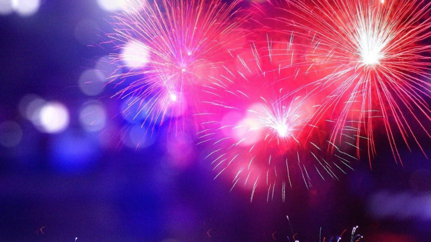 Fireworks with police logo_MGN Online