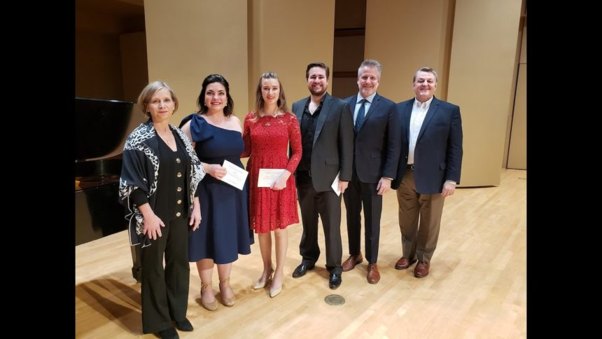 From left to right- Judge Sandra Horst, Cara Gabrielson, Jordan Bowman, Alec Carlson, Judge David Bennett and Judge Stanford Olsen