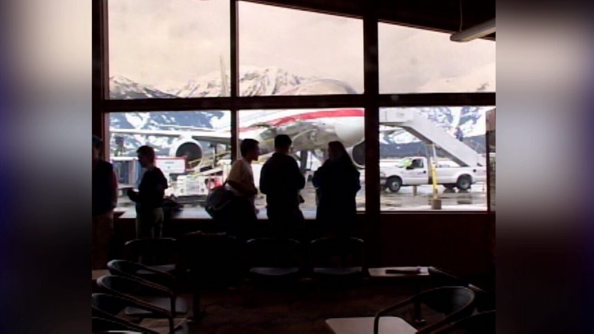 Inside the Jackson Hole Airport.