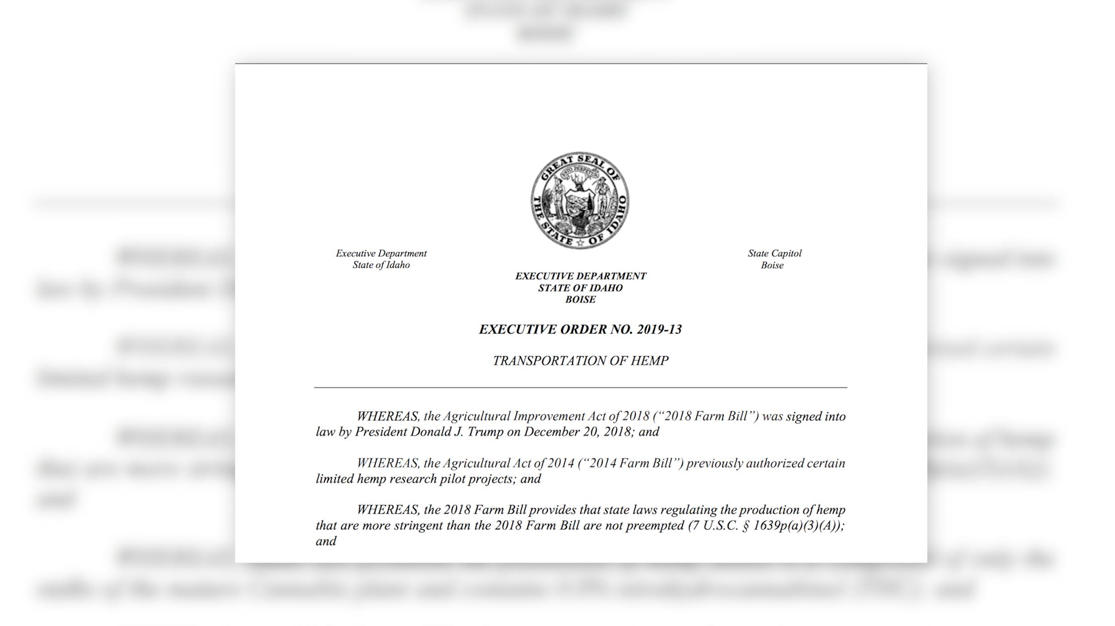 Executive Order No. 2019-13