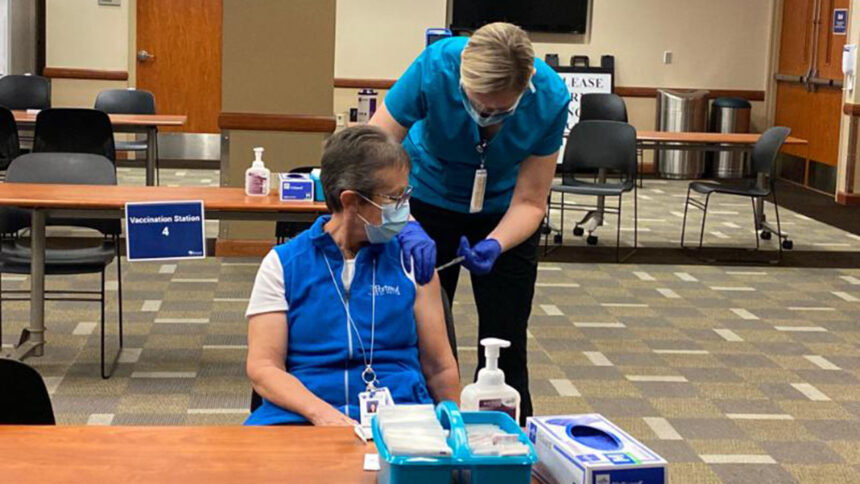 Portneuf Medical Center administers first COVID-19 vaccine to frontline members